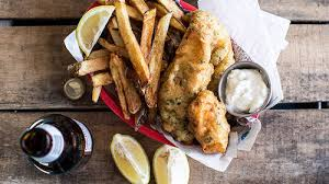 easy herb battered fish and chips