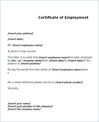 Sample Of Employment Certification Letter Download A Sample Employment Verification Letter Word Verify