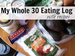 eating log whole 30 eating log whole 30 recipes whole 30 meal plan