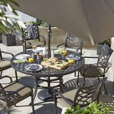 Ripley Metal Seater Dining Set Departments Diy At B Q