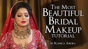 indian bridal makeup tutorial step by step full makeup tutorial krushhh by konica