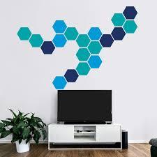 honeycomb geometric wall art hexagon stickers decoration