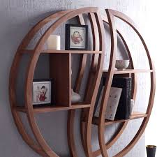 round wood wall shelf round wall shelf wood