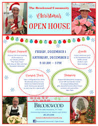 christmas open house flyer events brookwood community houston tx