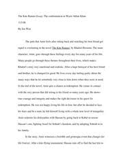 the kite runner documents course hero the kite runner essay