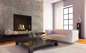 awesome modern corner fireplace decorating ideas grey wall background white crystal chandelier lighting white wool