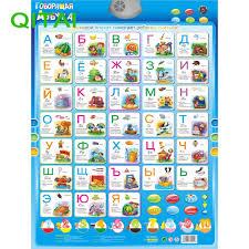 Russian Alphabet Talking Electronic Phonetic Chart Kids Toys
