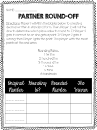 Rounding Decimals Anchor Chart Game Life Beyond The