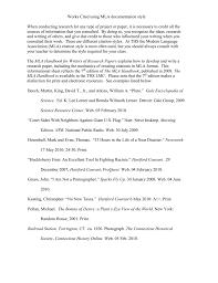 Sample Works Cited Page Torrington Public Schools