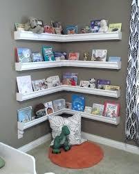 diy wall shelves for books rain gutter bookshelves