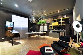 home office decor contemporer. superb design of the modern home office with grey wall ideas added brown tile floor decor contemporer