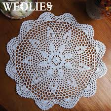 2018 37cm round lace hand crocheted doily placemat vintage fl coasters home coffee dining table decorative gadgets from donaold 33 28 dhgate