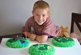 On Your Mark Get Set Go Mini Golf Cake