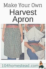 Make Your Own Apron Design How Easily To Make A Harvest Apron Sewing Projects Sewing