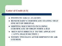 Letter Of Credit Gorgeous Letter Of Credit Learning Objectives The Students Are Required To