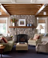 rustic country decor living room traditional with fireplace mantel tan walls decorative pillows