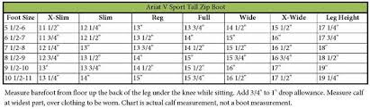 Ariat Volant Boot Size Chart Ariat Boots Sizing Coltford Boots