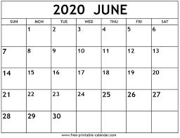 April May 2020 Calendar Printable June 2020 Calendar Free Printable Calendar Com