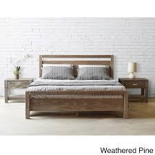 queen wood platform bed. Beautiful Queen Shop Grain Wood Furniture Loft Solid Queensize Panel Platform Bed   Free Shipping Today Overstockcom 10528617 To Queen E