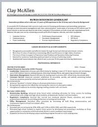 Professionally Written Military Resume To Civilian Sample And