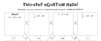 two step equations maze worksheet answers tessshlo