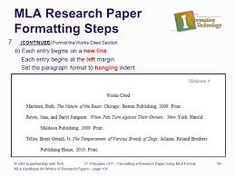 formatting a research paper ppt  mla research paper formatting steps