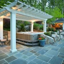 Hot Tub And Firepit Patio Ideas Photos Houzz