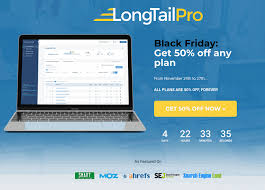 black friday deal 50 off on longtailpro keyword research tool