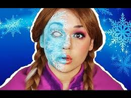 anna half frozen makeup tutorial