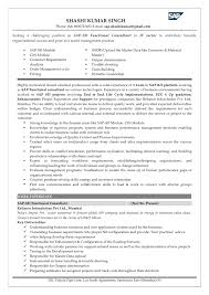 sap sd sample resumes