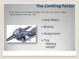 Federal Bridge Formula Chart Understanding The Federal Bridge Formula Or Federal Bridge