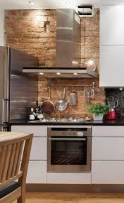 Exposed brick for the kitchen. Love the rustic feel and can be mixed well  with