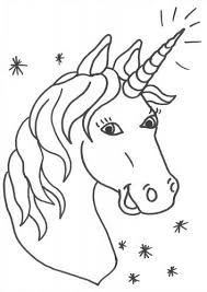 Unicorn Head Coloring Page 2938492384234 Head Coloring Page