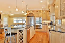 Light Wood Cabinets Kitchen Natural Stained Wood Kitchen Toms River New Jersey By Design Line