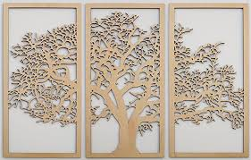 >amazon tree of life 3d maple 3 panel wood wall art  tree of life 3d maple 3 panel wood wall art beautiful living room decor