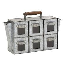 get quotations woodland imports striking antique metal 6 drawers chest cheap office drawers