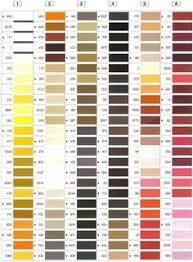 Polystar Thread Color Chart 16 Best Machine Embroidery Thread Images In 2019 Machine