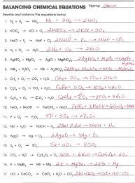 balancing chemical equations worksheet answer key chemistry balancing chemical equations worksheet answer key template