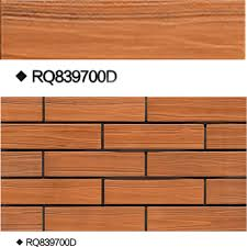 High Similar Wood Grain Look Porcelain Bright Full Body Wall - Exterior ceramic wall tile