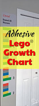 Lego Growth Chart What A Great Idea To Use A Lego Growth Chart Kids Love