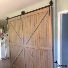 decoration double track sliding barn doors attractive winsoon 5 16ft bypass door hardware kit for