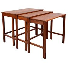 mid century modern teak nesting tables by france sons