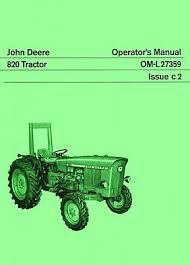 john deere tractor operators instruction manual jd bull  john deere 820 tractor operators instruction manual jd
