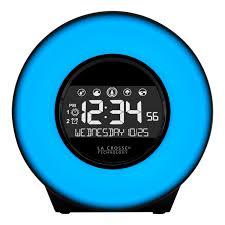 la crosse technology c85135 color mood light alarm clock with nature sounds com