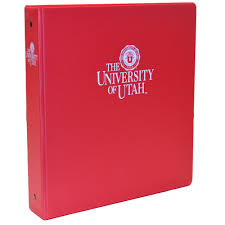 Red One Half Inch University Of Utah Binder University