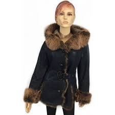 dudex fashion las womens toscana shearling sheepskin lambskin suede leather jacket biker designer winter gilet fur coat