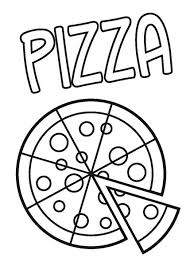 Pizza Coloring Pages Kids Printable Enjoy Coloring Cute Outfits