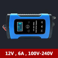 <b>12V 6A</b> Universal Motorcycle Car Battery Charger Intelligent Pulse ...