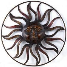 sun and moon metal art french country wall decor mexican sun wall art wooden sun wall