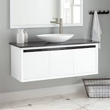 also known as floating vanities this type mounts directly to the wall with no support from the floor wall mounted vanities are great at providing a